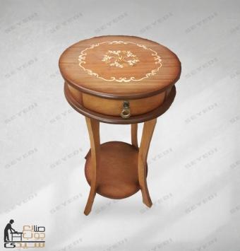 طاولة هاتف تحتوي على درج واحد
