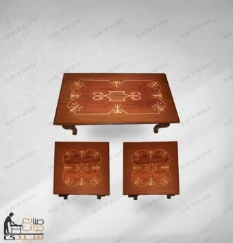 طاولة ضيافة من قطعتين
